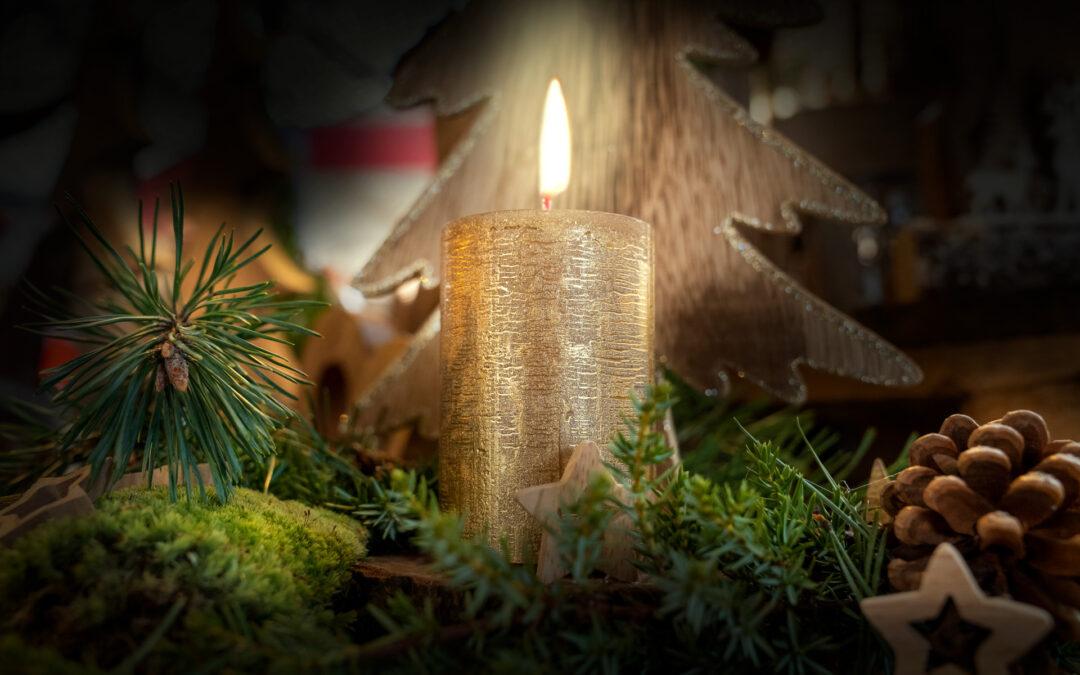 Gemütliche Weihnachten mit schönen Dekorationen von Ihrer Gärtnerei