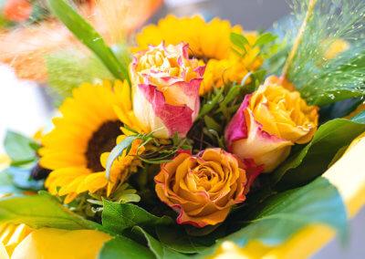 Floristik Hessdoerfer Blumenstrauss Rose Sonnenblume