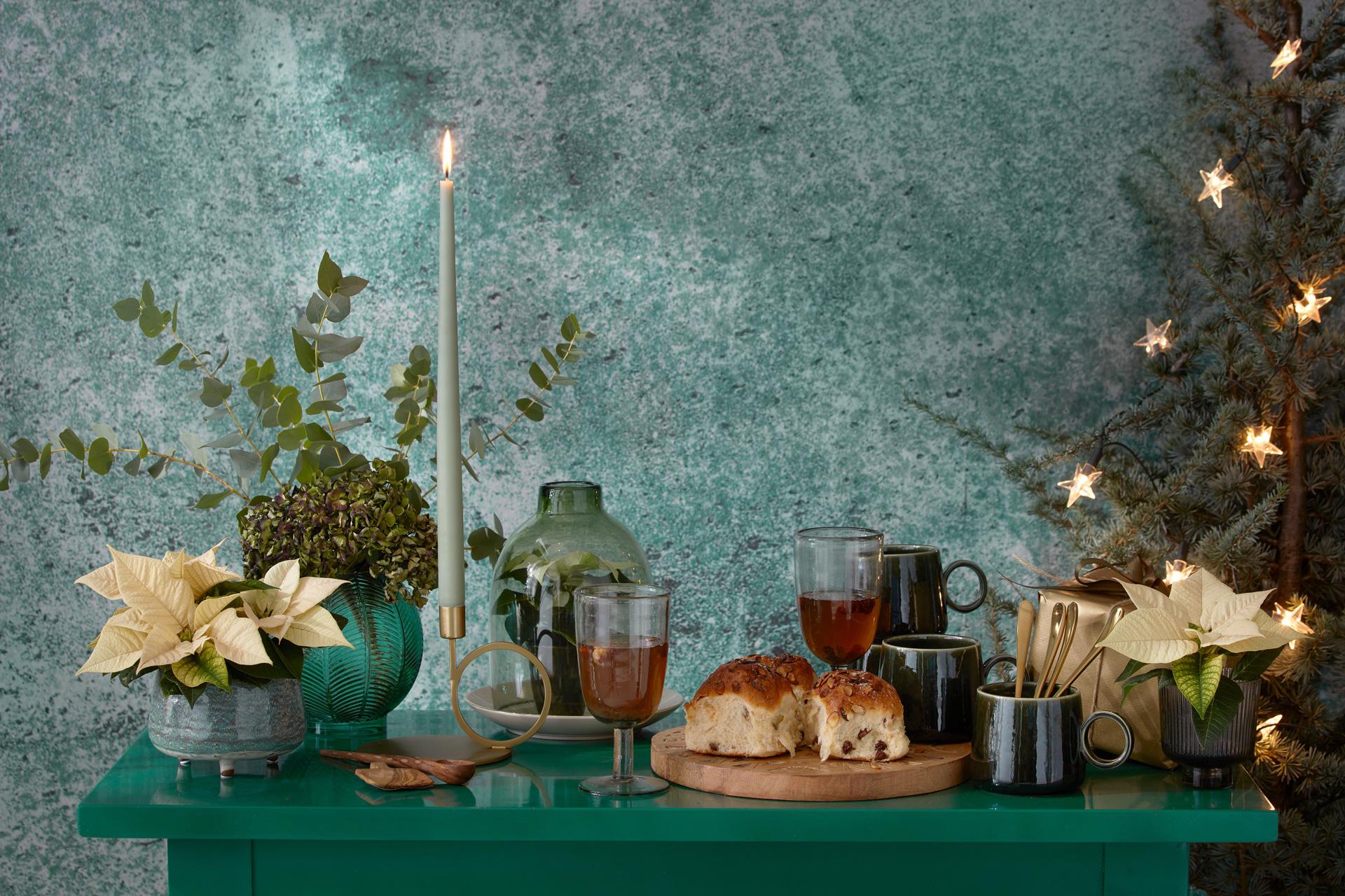Gemütlicher Advent mit weißen Poinsettia by Stars for Europe