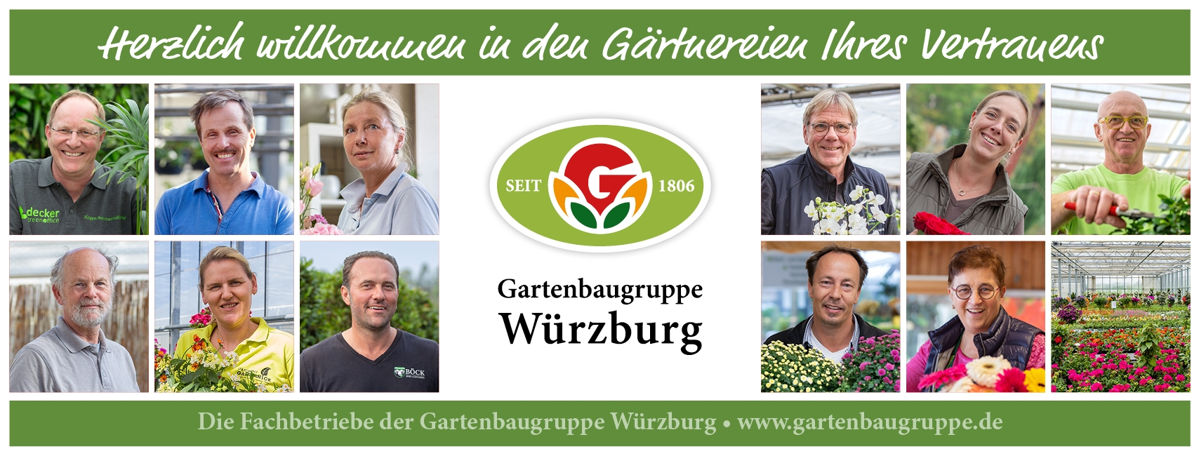 Die Gartenbaugruppe Würzburg: Alle Premium-Fachbetriebe im Kreis Würzburg