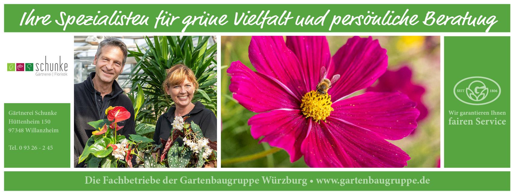Die Gartenbaugruppe Wuerzburg stellt sich vor: Gärtnerei Schunke