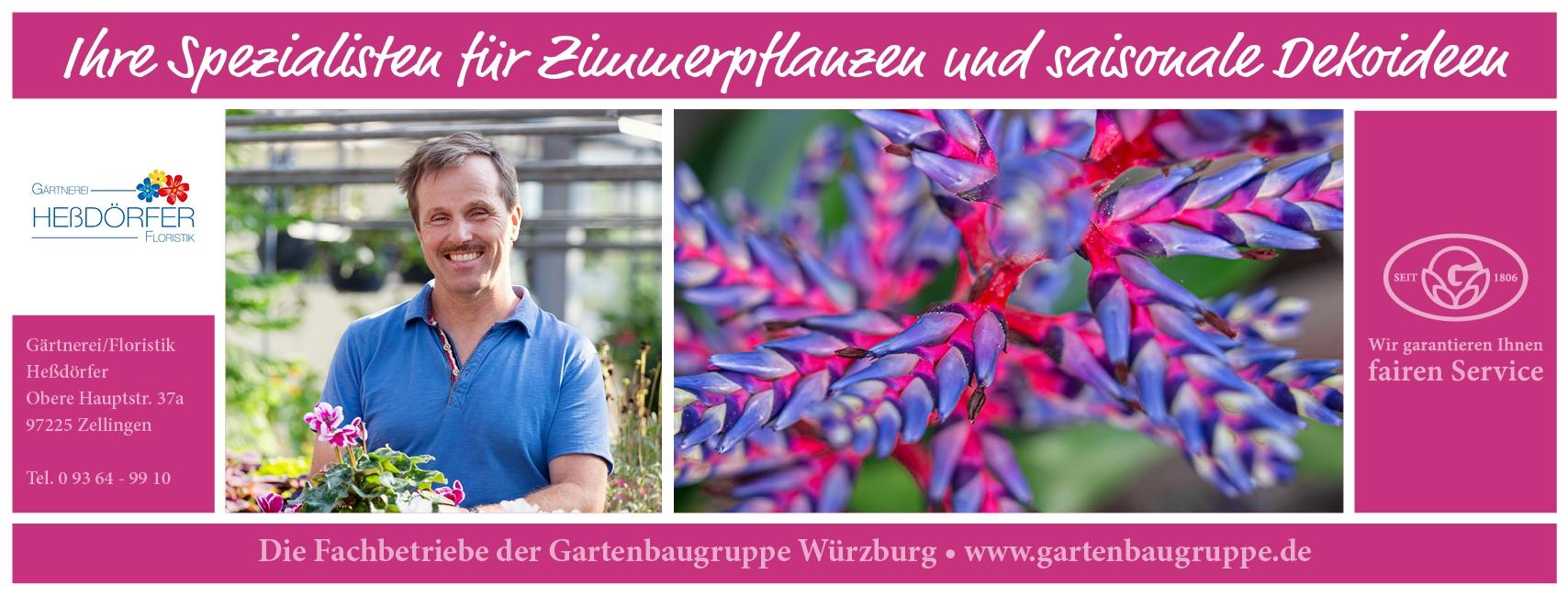 Gärtnerei Heßdörfer Floristik - Gartenbaugruppe Würzburg