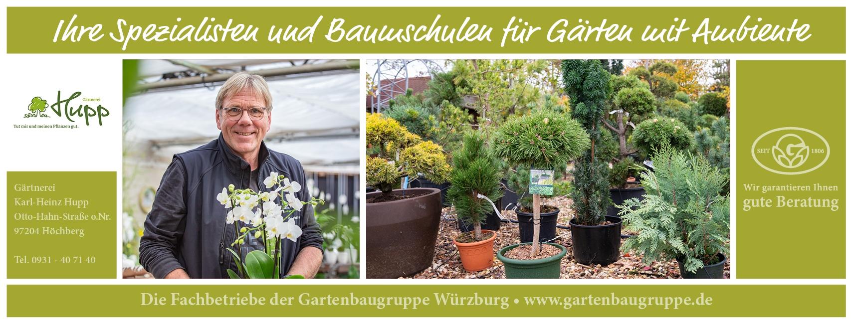 Gärtnerei Hupp - Gartenbaugruppe Würzburg