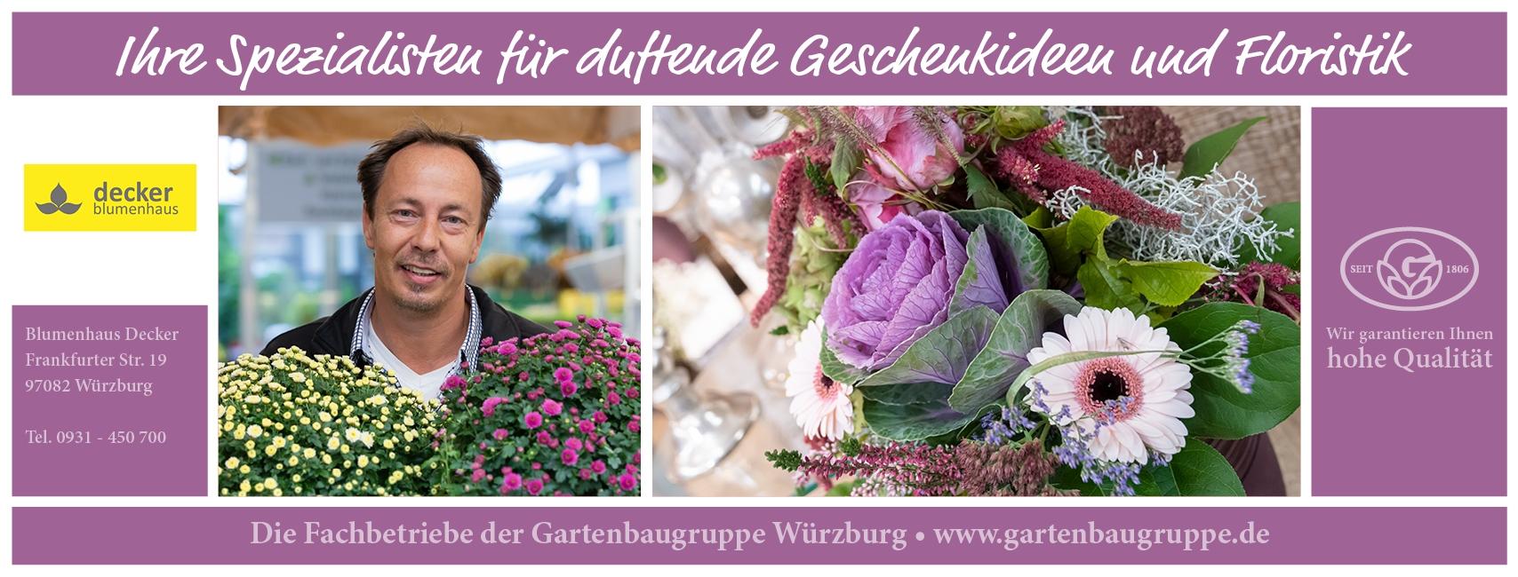 Blumenhaus Decker - Gartenbaugruppe Würzburg