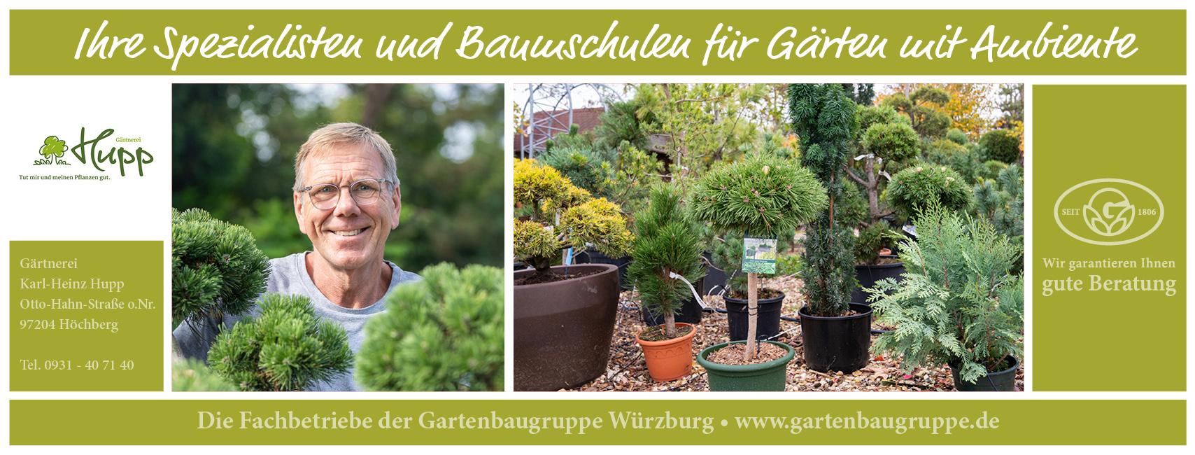 Die Gartenbaugruppe Würzburg stellt sich vor Gärtnerei Hupp