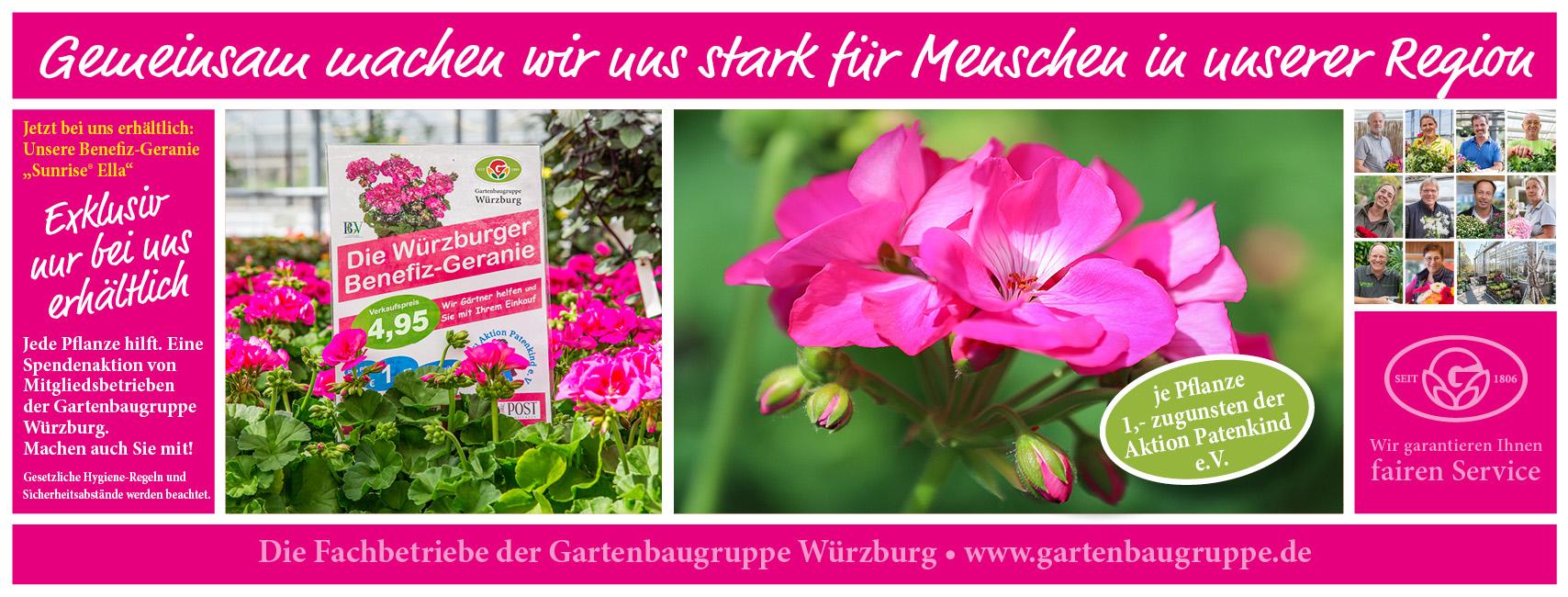 Die Würzburger Benefizgeranie Der Gartenbaugruppe