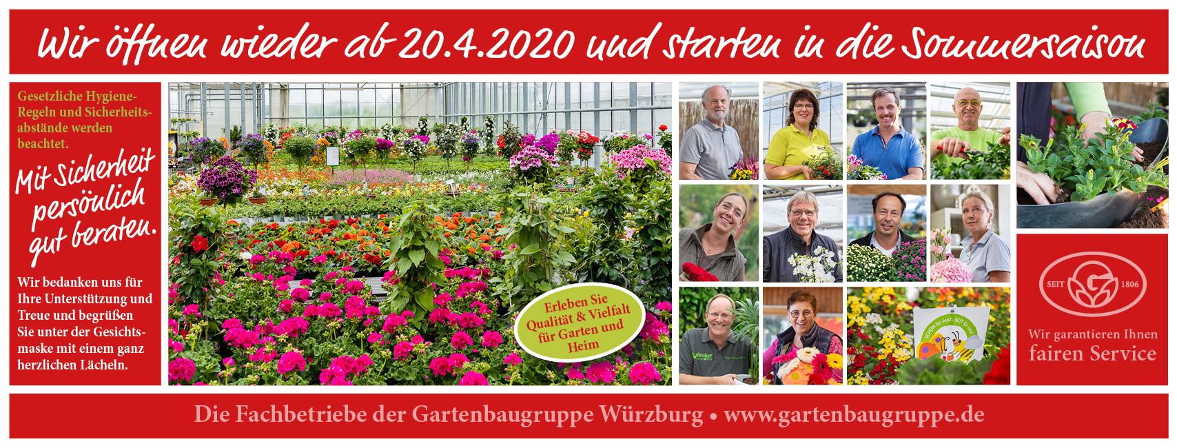 Gartenbaugruppe Würzburg – Wir öffnen Wieder Ab 20.4.2020