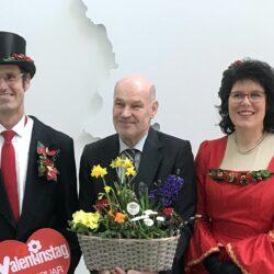 Gartenbaugruppe Valentin Bei Landrat Eberhard Nuss