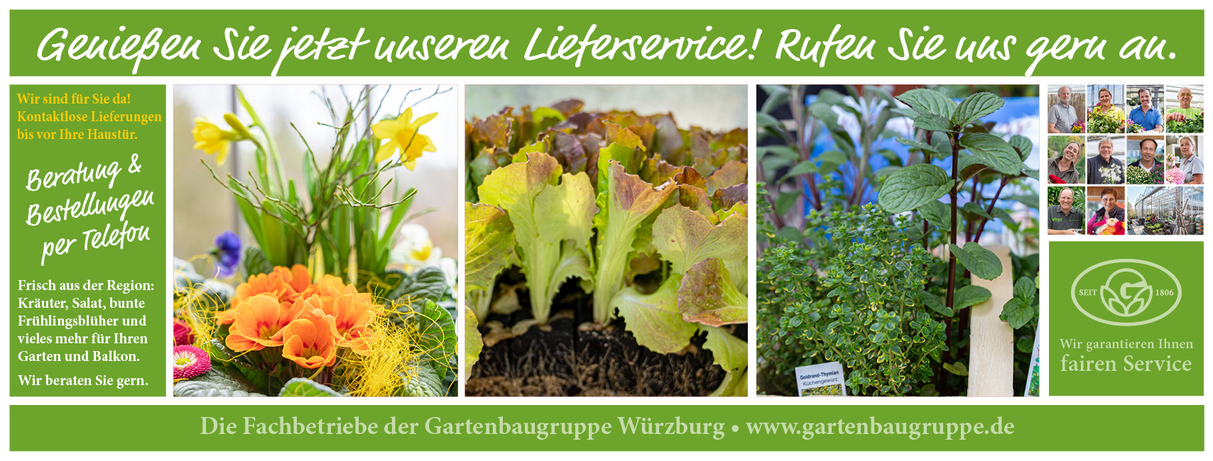 Gartenbaugruppe Würzburg Wir Sind Für Sie Da! Kontaktlose Li
