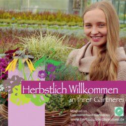 Herbstlich Willkommen Plakat des BGV Foto: Gärtnerei Steinhilber, Neustadt